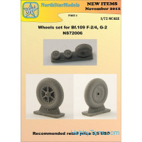 Wheels set 1/72 for Bf-109 F-2/4,G-2