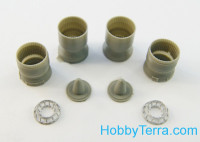 Exhaust nozzles 1/72 for Su-27 interceptor