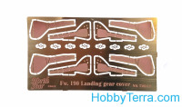 Photo-etched set 1/72 for Focke Wulf Fw.190, landing gear cover