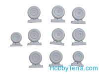 Wheels set 1/72 for An-10, An-12, type 1, light series