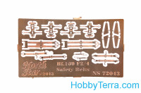 Photo-etched set 1/72 for Bf-109 F-2,4 safety belts
