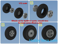 Wheels set for Spitfire 4 spoke, smooth tires wheels set No mask series (Resin parts)