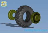 Topol SS-25 Wheels and tyre set. Main hub Type 1