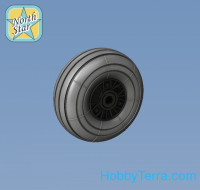 Wheels set 1/72 Bf-109G6 (main disk type 1 – with ribs) Smooth main tires No Mask series