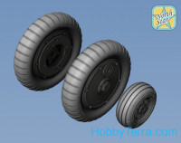 Wheels set 1/72 Bf-109 G6 (main disk type 2 - without ribs)