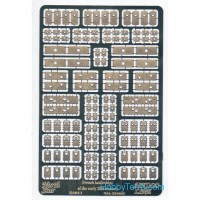 Photo-etched set 1/350 doors and hatches for French bettleship, early XX century