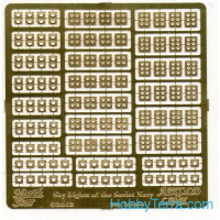 Photo-etched set 1/350 skylights of Soviet Navy