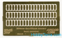 Photo-etched set 1/350 20mm Oerlikon ammo box covers