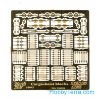 Photo-etched set 1/350 cargo-hoist blocks