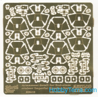 Photo-etched set 1/350 Armament for 2nd-class cruiser Imperial Russian Navy