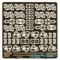 Photo-etched set 1/350 Armament for Imperial Russian Navy