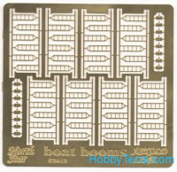 Photo-etched set 1/350 Boat booms