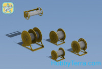 Photo-etched set 1/350 WWII English Royal Navy cable reels