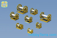 Photo-etched set 1/350 IJN WWII Cable reels set