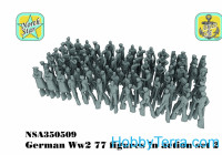 WWII German figures in action, set2