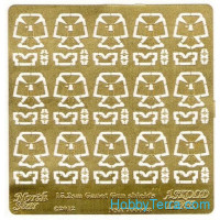 Photo-etched set 1/700 152mm Canet gun shields
