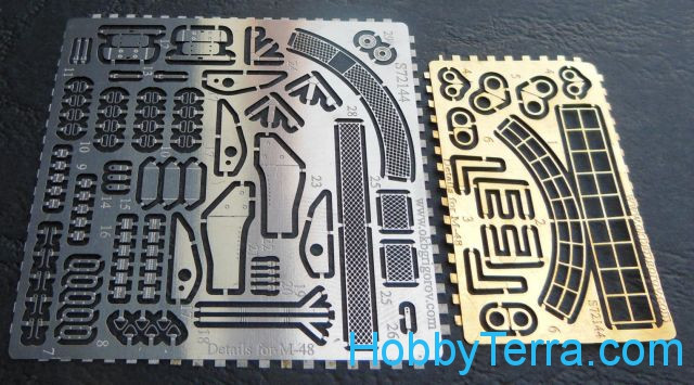 Photo-etched set for M-48 tank (Revell/Italeri)