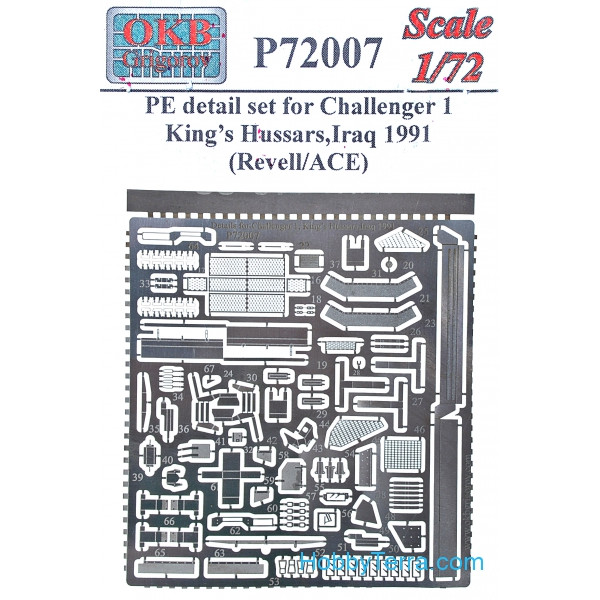 Photo-etched set 1/72 for Challenger 1, for Revell/ACE kit