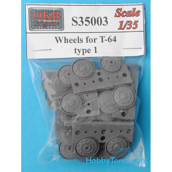 Wheels set 1/35 for T-64 tank, type 1