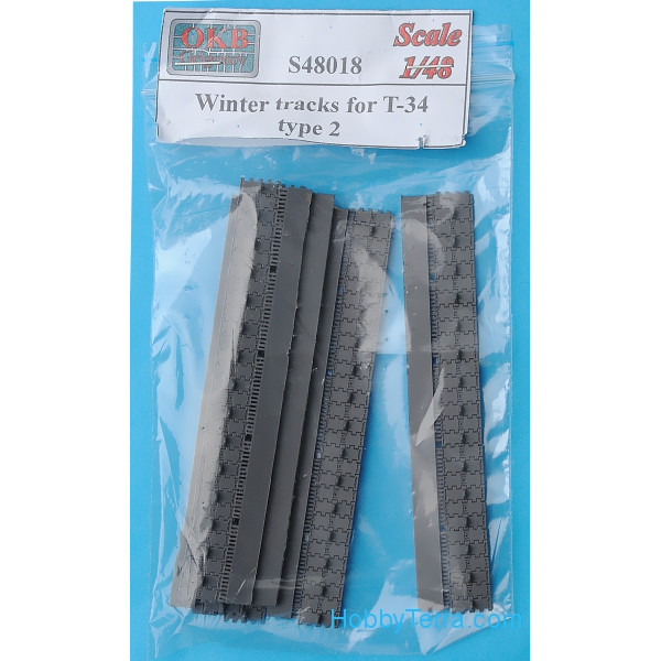 Winter tracks 1/48 for T-34, type 2