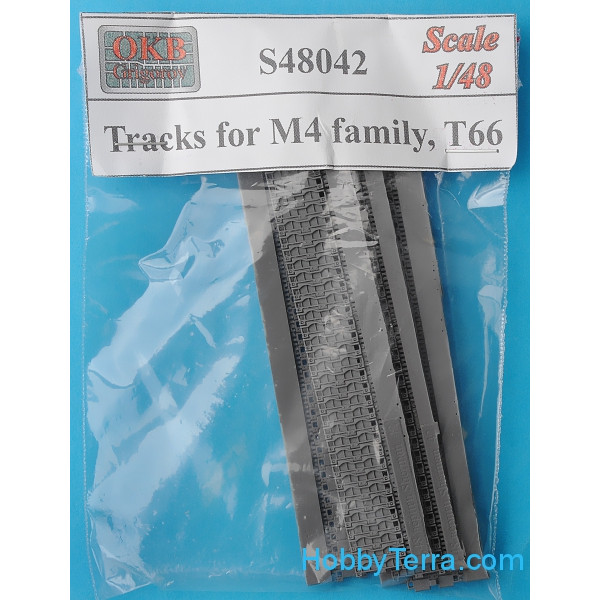 Tracks 1/48 for M4 family, T66, set 1
