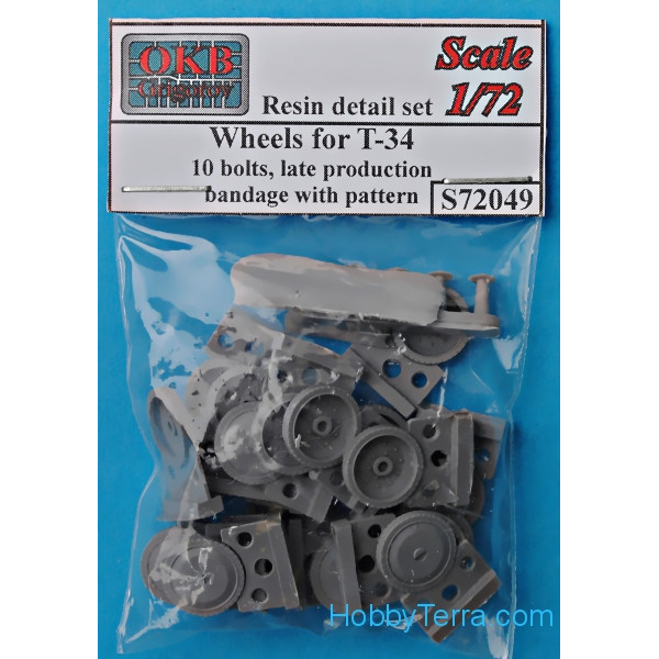 Wheels for T-34,10 bolts, late production, bandage with pattern