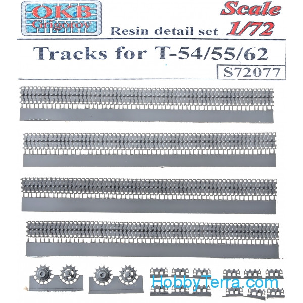 OKB Grigorov  S72077 Tracks 1/72 for T-54/55/62 tanks