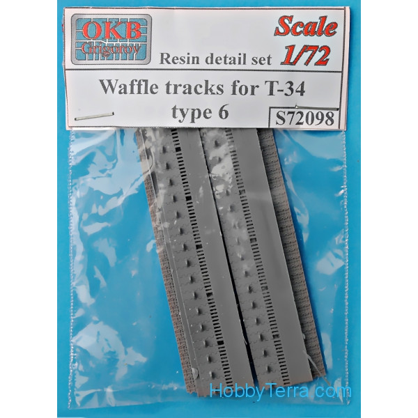 Waffle tracks 1/72 for T-34, type 6