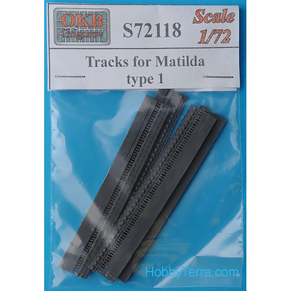 Tracks 1/72 for Matilda tank, type 1