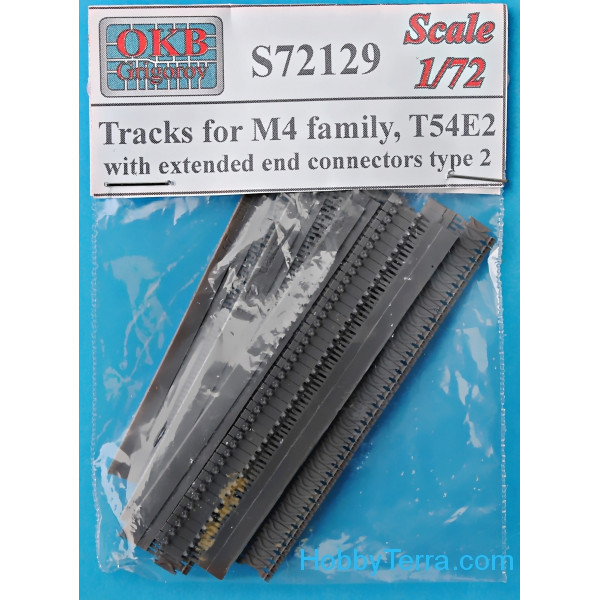Tracks for M4 family, T54E2 with extended end connectors, type 2