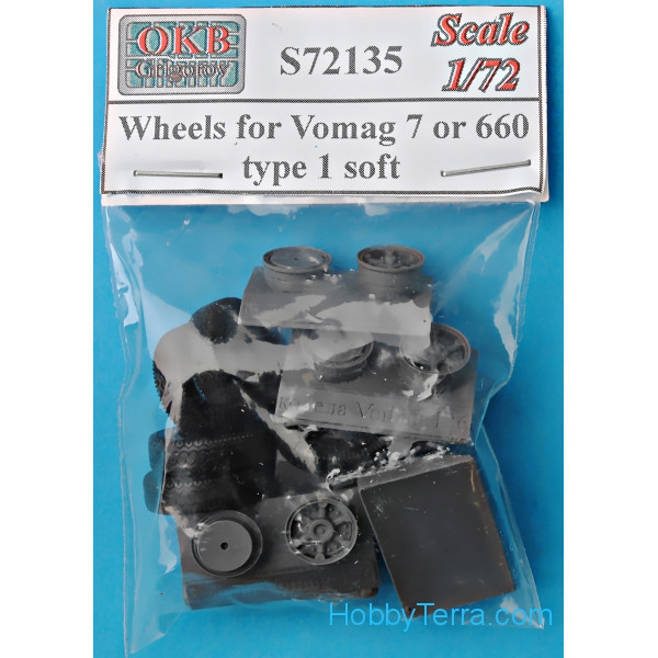 Wheels set 1/72 for Vomag 7 or 660, type 1