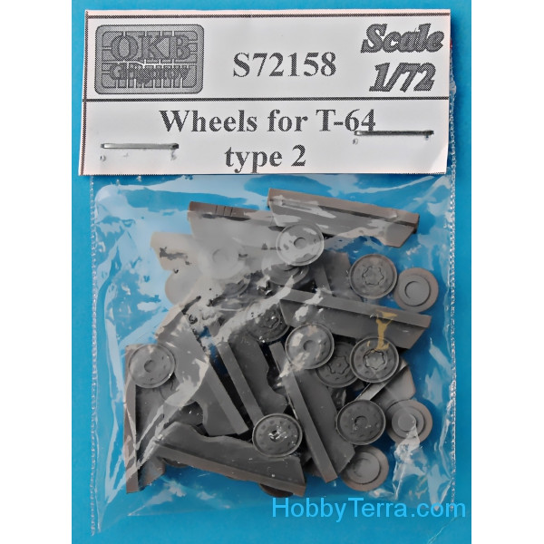 Wheels set 1/72 for T-64, type 2
