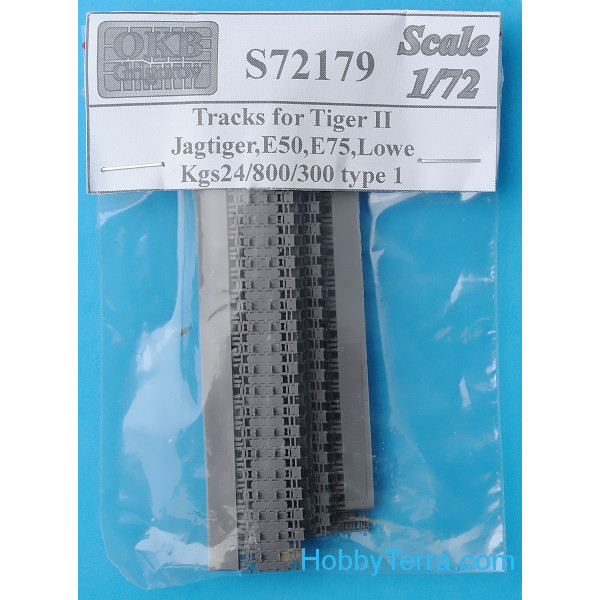 Tracks 1/72 for Tiger II,Jagtiger,E50,E75,Lowe, Kgs24/800/300, type 1