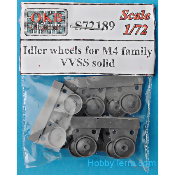 Idler wheels for M4 family, VVSS solid (12 per set)
