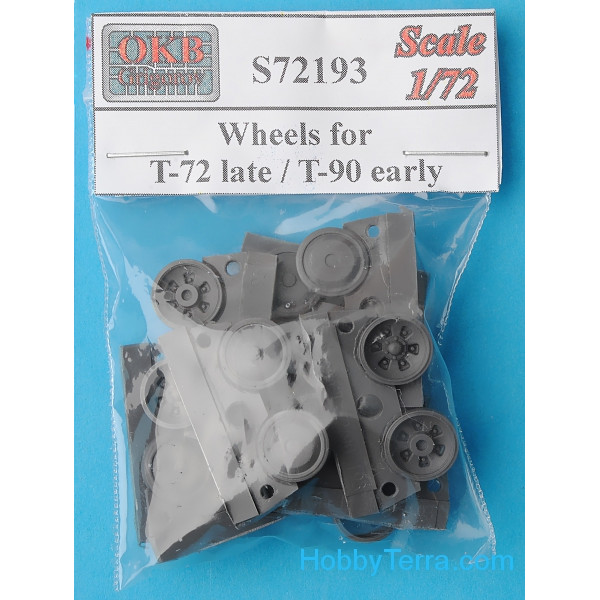 Wheels set 1/72 for T-72 late / T-90 early tanks