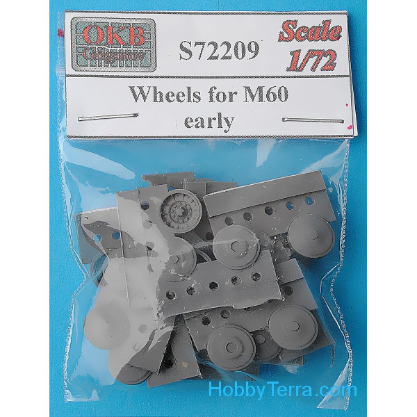 Wheels set 1/72 for M60 tank, early