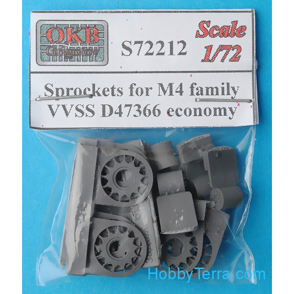Sprockets for M4 family, VVSS D47366 economy