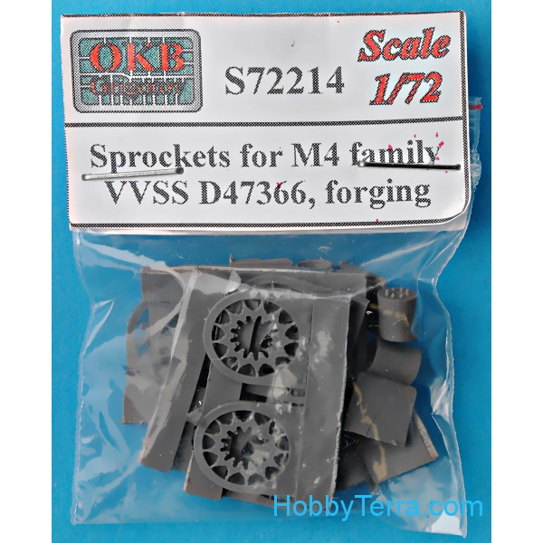 Sprockets for M4 family, VVSS D47366, forging (6 pcs)