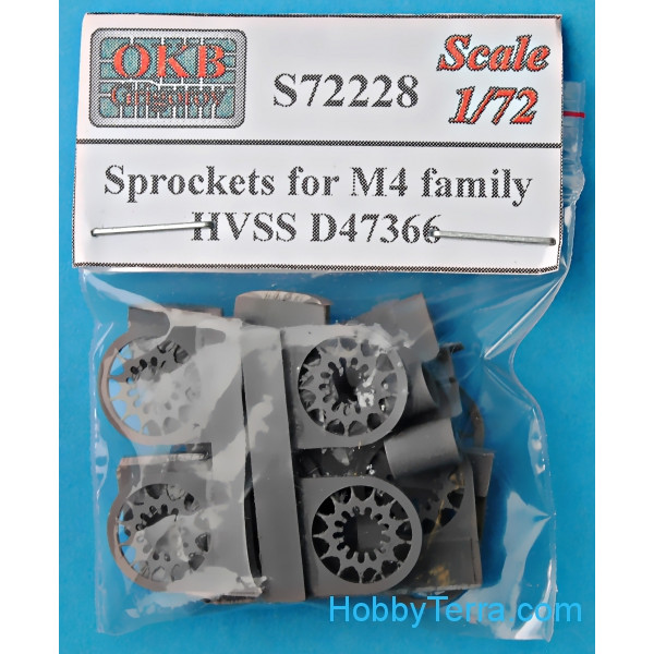 Sprockets for M4 family,HVSS D47366 (6 pcs)