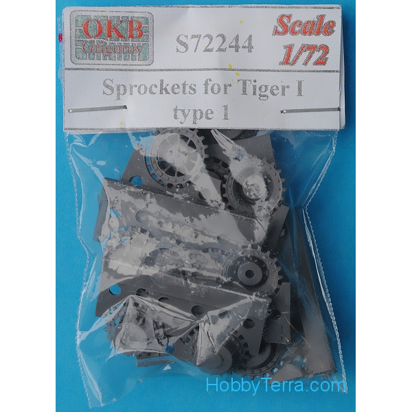 Sprockets 1/72 for Tiger I, type 1 (8 per set)