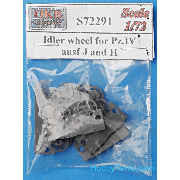 Idler wheel 1/72 for Pz.IV, Ausf J and H