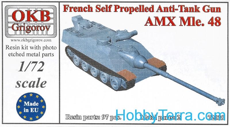 OKB Grigorov V72039 French self-propelled anti-tank gun AMX Mle 48