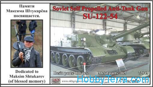 SU-122-54 Soviet self-propelled anti-tank gun