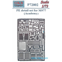Photo-etched set 1/72 for M977, for Academy kit