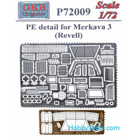 Photo-etched set 1/72 for Merkava 3, for Revell kit
