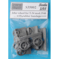 Idler wheels 1/72 for T-34 mod.1940, with rubber bandage