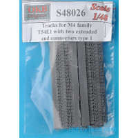Tracks 1/48 for M4 family, T54E1 with two extended end connectors, type 1