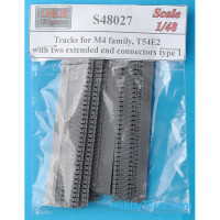 Tracks 1/48 for M4 family, T54E2 with two extended end connectors, type 1