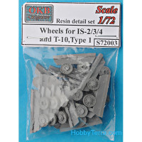 Wheels set 1/72 for IS-2/3/4 and T-10, type 1