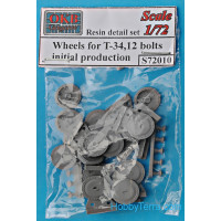 Wheels set 1/72 for T-34,12 bolts, early type